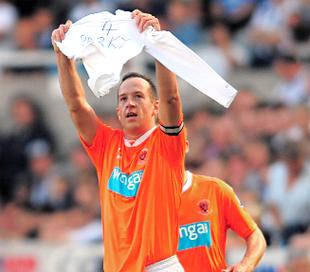 LEGEND: Blackpool's Charlie Adam pays tribute