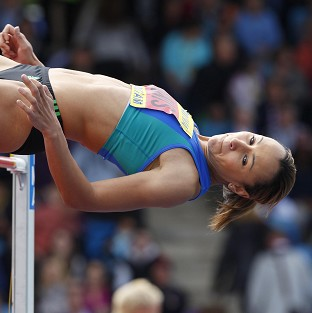 Jessica Ennis won the high jump at the UK Olympic Trials