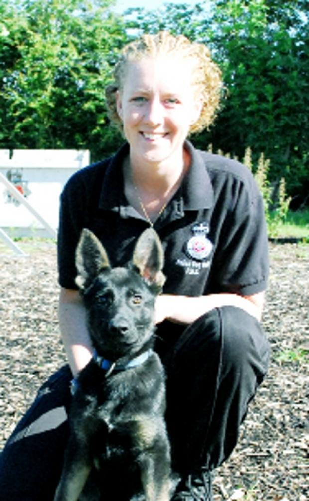 Blackpool Citizen: IN TRAINING PC Katie Jones and Jago
