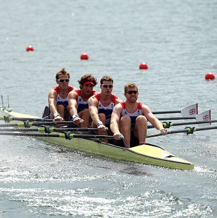 Great Britain's men's quadruple sculls came home in fifth
