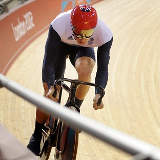 Jason Kenny during the sprint qualifying at the Velodrome