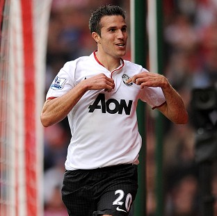 Robin van Persie, pictured, ensured Sir Alex Ferguson celebrated his 1,000th league game with victory