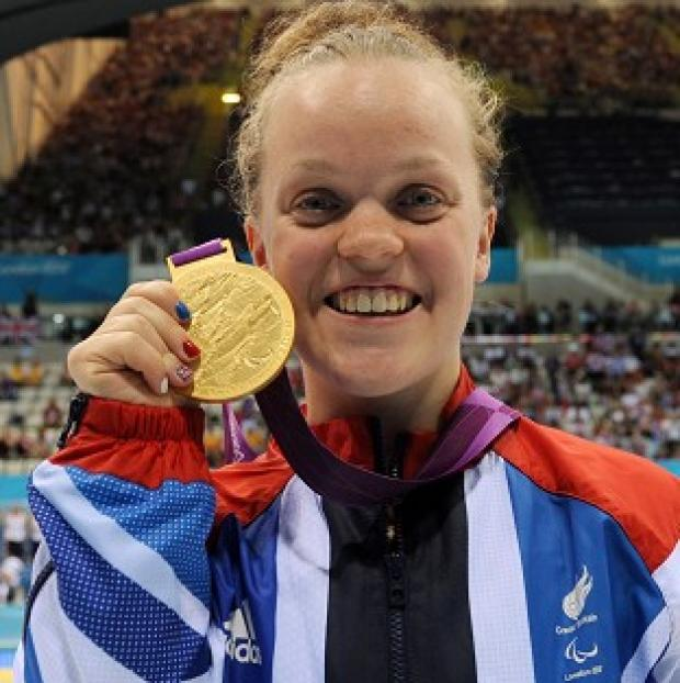 Ellie Simmonds competes for her third 2012 Paralympic gold in the 50m freestyle