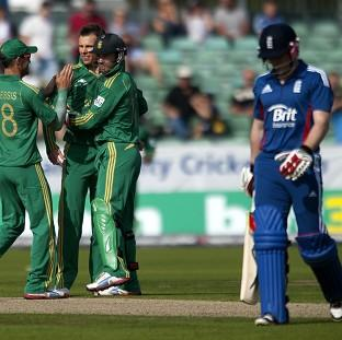 England struggled to post a competitive total against South Africa