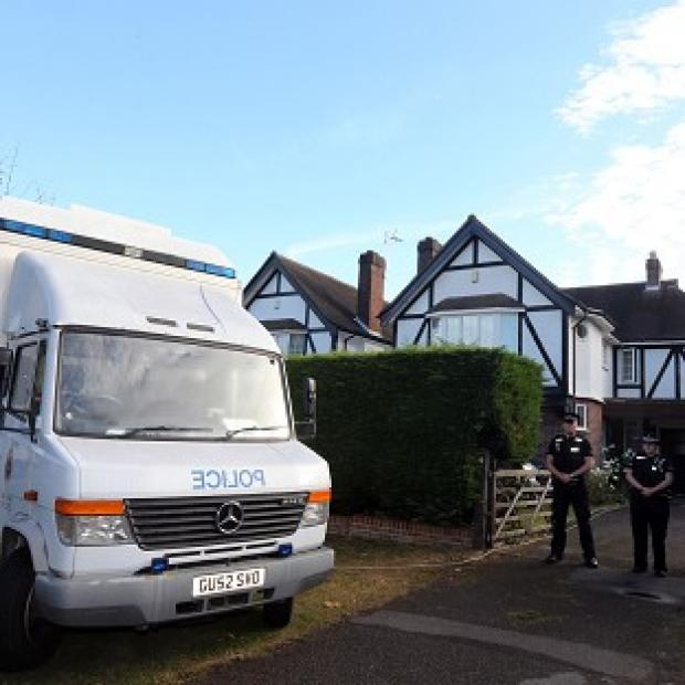 Blackpool Citizen: Surrey Police outside the home of Saad Al-Hilli in Claygate