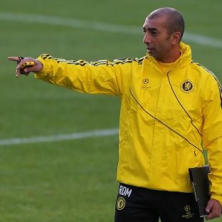 Roberto Di Matteo during a training session at Stamford Bridge a