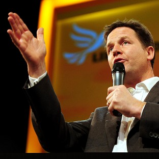 Deputy Prime Minister Nick Clegg has become a pop sensation after storming into the charts