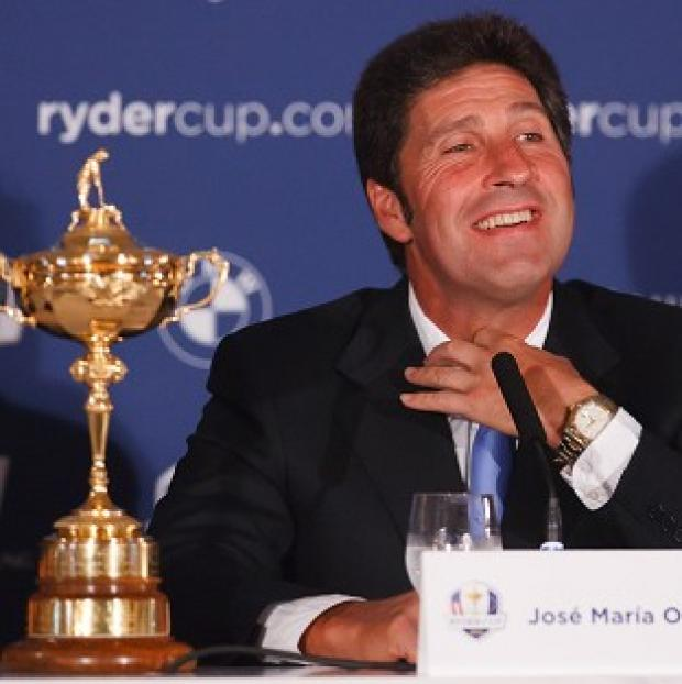 Blackpool Citizen: Jose Maria Olazabal, pictured, said Seve Ballesteros 'will be in our team in some way'
