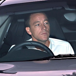 John Terry arriving at Wembley on Thursday morning