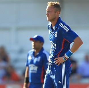 Blackpool Citizen: Stuart Broad, right, was the pick of England's bowlers with three wickets