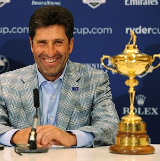 Jose Maria Olazabal, pictured, hailed the performance of Ian Poulter at Medinah