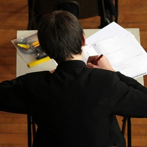Figures show the proportion of teenagers scoring at least five Cs at GCSE including English and maths declined for the first time this summer