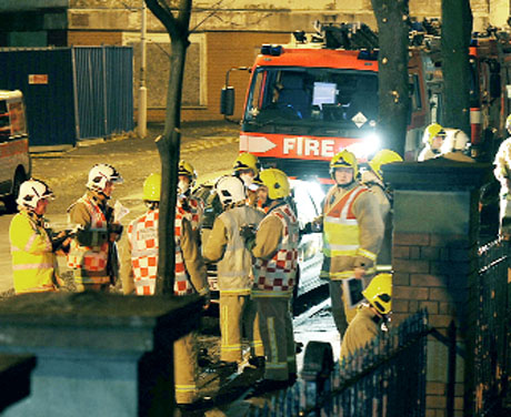 Lancashire firecrews play it for real