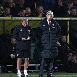 Arsene Wenger, right, was disappointed with Arsenal's performance against Norwich