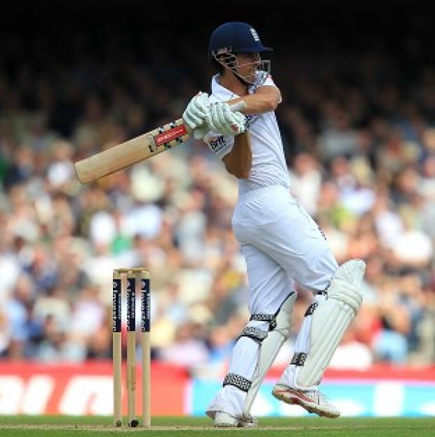 A century from England's Alastair Cook helped England produce a strong response in India