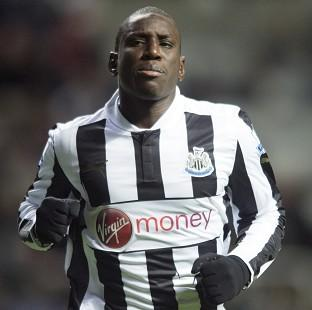 Arsene Wenger has denied Arsenal will move to acquire Newcastle striker Demba Ba, pictured