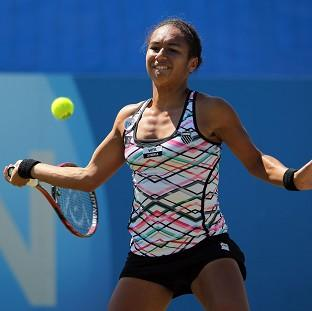 Heather Watson suffered an elbow injury in Auckland