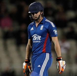 Craig Kieswetter fell for a duck as England struggled with the bat in India