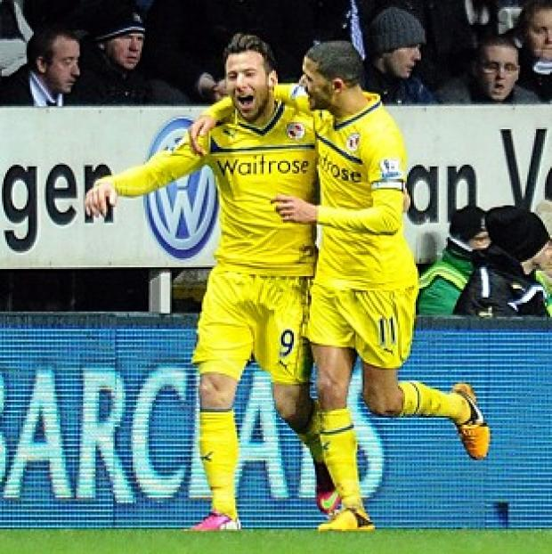 Adam Le Fondre, left, netted a second-half brace at Newcastle
