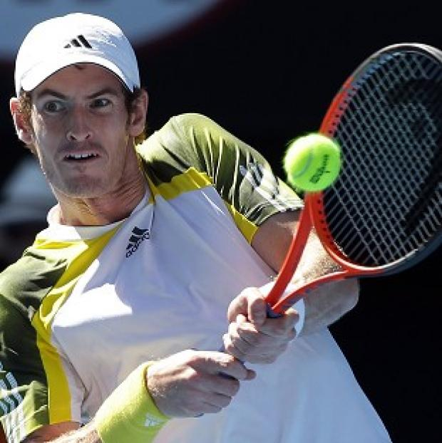 Andy Murray, pictured, was in control against Jeremy Chardy (AP)