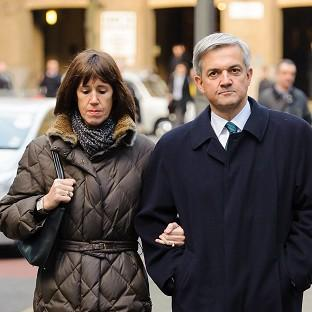 Former energy secretary Chris Huhne and his partner Carina Trimingham arrive at Southwark Crown Court