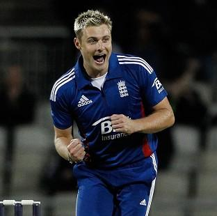 Luke Wright played a prominent role as England piled up 214 for seven