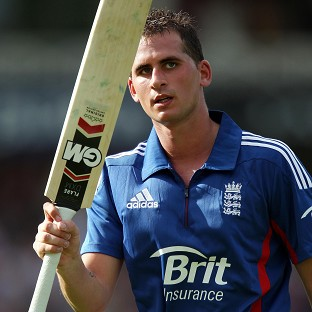 Alex Hales, pictured, and Michael Lumb put on a record opening stand of 143