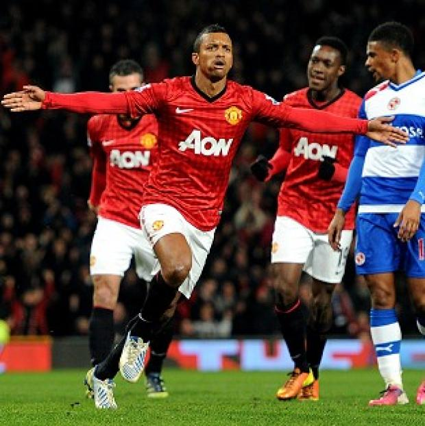Nani, left, and Javier Hernandez were on target for Manchester United