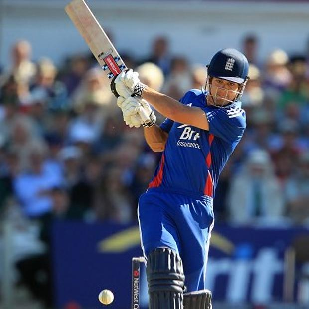 Skipper Alastair Cook top scored for England with 46 in a successful chase