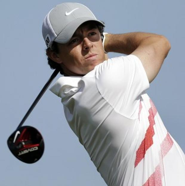 Rory McIlroy called it a day on the 18th hole - his ninth - in Florida (AP)