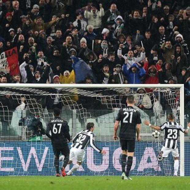 Alessandro Matri, centre, and Fabio Quagliarella were on target as Juventus knocked Celtic out