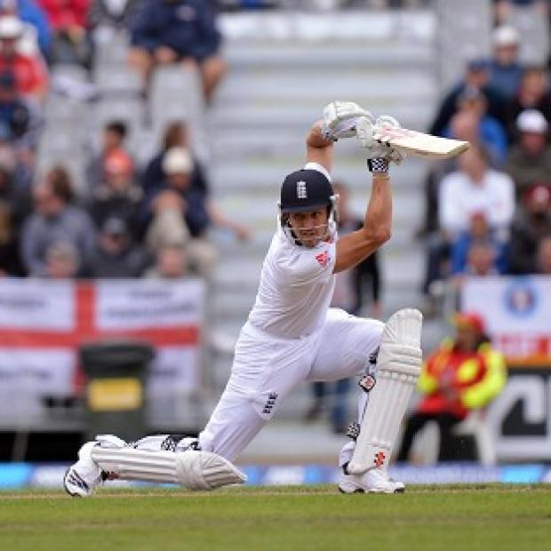 England's Nick Compton bats during Day Four of the First Test at the University Oval, Dunedin