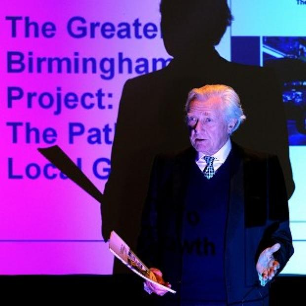 Lord Heseltine wants funding and spending powers devolved to the regions