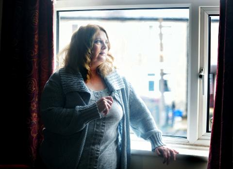 FACING A STRUGGLE: Jeanie Gentry in her Burnley home