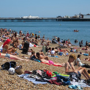 Beaches across Britain have been packed with sun-worshippers over the past few days as the country enjoys hot weather