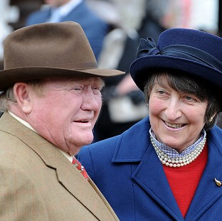 Terry Biddlecombe and his partner, former trainer Henrietta Knight