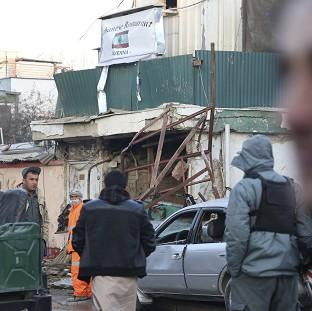Blackpool Citizen: Afghan security forces investigate the suicide attack in Kabul, Afghanistan (AP)