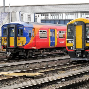 South West Trains services into Waterloo were hit by power supply problems and poor rail conditions