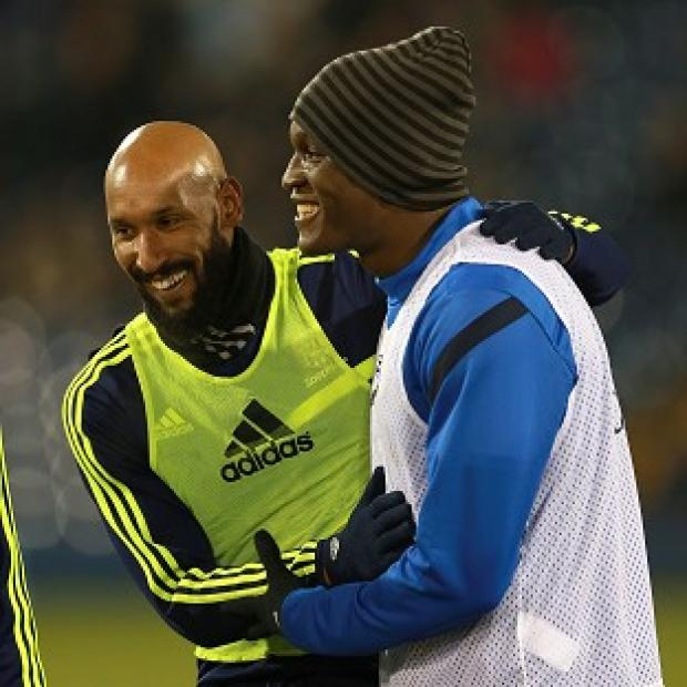 Blackpool Citizen: Romelu Lukaku, right, has given support to Nicolas Anelka, left