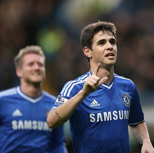 Oscar, right, scored the only goal of the game as Chelsea booked their place in the FA Cup fifth round
