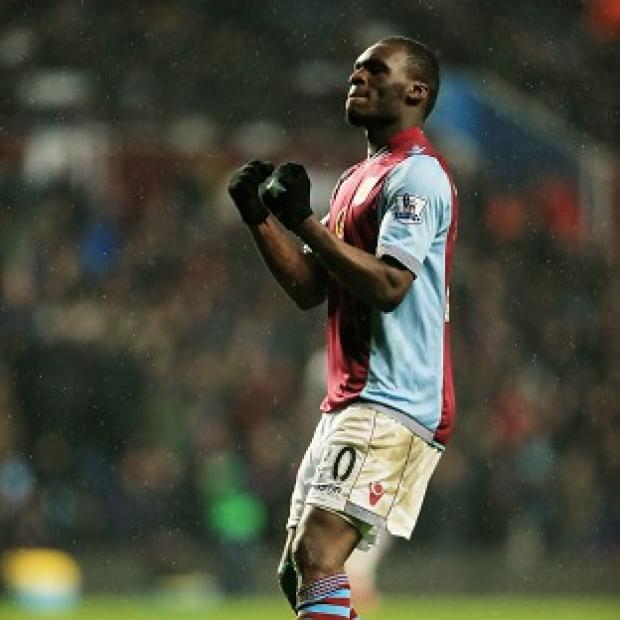 Blackpool Citizen: Christian Benteke scored from the penalty spot to claim all three points for Villa