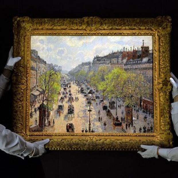 Blackpool Citizen: Camille Pissaro's Boulevard Monmartre, Matinee De Printemps sold for almost �20 million