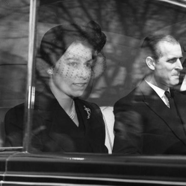 Blackpool Citizen: The Queen and the Duke of Edinburgh on their way to Westminster Abbey for her first public engagement as monarch.