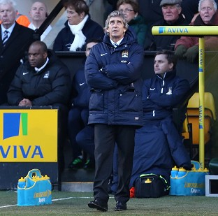 Manuel Pellegrini was left bemoaning injuries following the goalless draw against Norwich