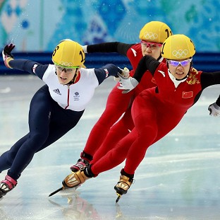 Elise Christie, left, won her semi-final