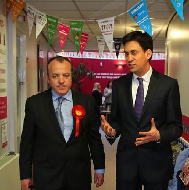 Blackpool Citizen: Labour Leader Ed Miliband helped new Wythenshawe and Sale East MP Michael Kane campaign