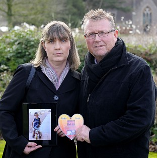 Steve and Yolanda Turner, whose son Sean died from a brain haemorrhage after surgery at Bristol's Children Hospital