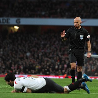 Howard Webb came in for criticism for his handling of the FA Cup tie