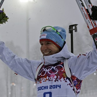 Emil Hegle Svendsen won gold in the men's biathlon 15km mass start