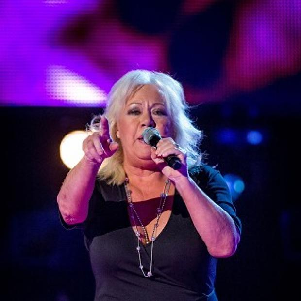 Blackpool Citizen: Teresa Vasiliou sang a song she had written for her music idol and the Voice judge Sir Tom Jones (BBC/PA)